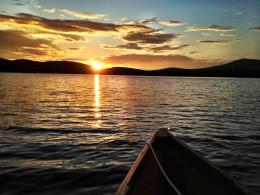 Sunset over Chazy Lake