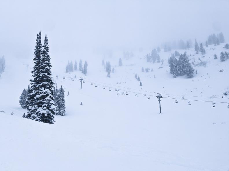 Solitude ski resort on opening day 2019